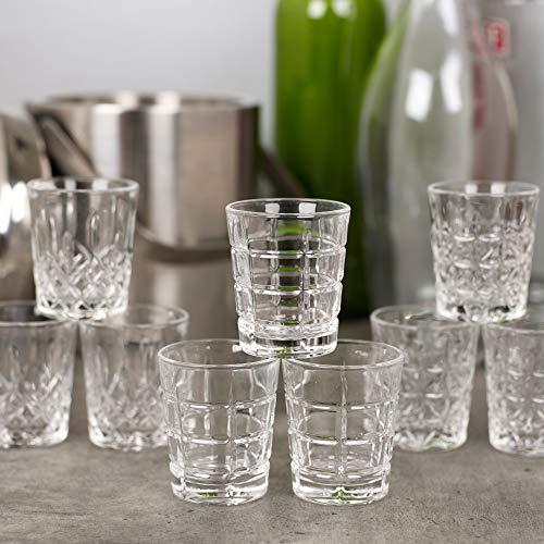 Queensway vasos de chupito de alta calidad, 12x Marina Shot Glasses