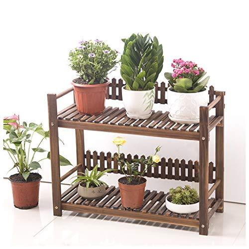 MeiMei Support de Fleurs Salon intérieur Balcon Chambre à Coucher extérieure Bureau Assemblage en Bois antiseptique Support à Fleurs Multicouche (Taille : 80x28x55cm)