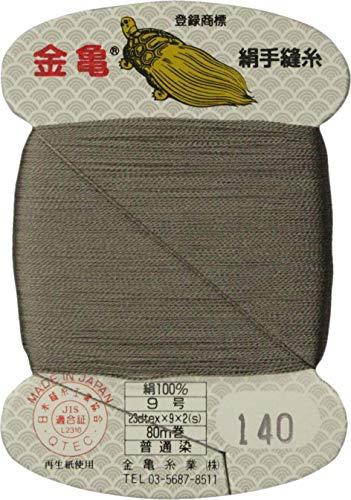 手縫い糸 『絹糸 9号 80m カード巻き 140番色』 金亀糸業