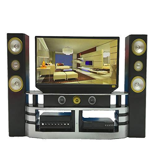 NiceButy 1 Pc Mini Hi-Fi TV de Cine en casa Gabinete Combinado Determinado de la Mini muñeca del Juguete para niños Regalo de la diversión para los niños