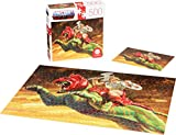 Masters of The Universe Mattel Jigsaw Puzzle with 500 Interlocking Pieces and Mini-Poster Featuring He-Man and Battle Cat, Gift for Collectors and Kids Ages 8 Years Old and Up