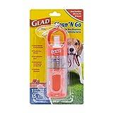 Glad for Pets Clean & Go Waste Bag Dispenser & Hand Sanitizer Spray   Poop Bag Holder, 15 Bags, Mini Hand Sanitizer