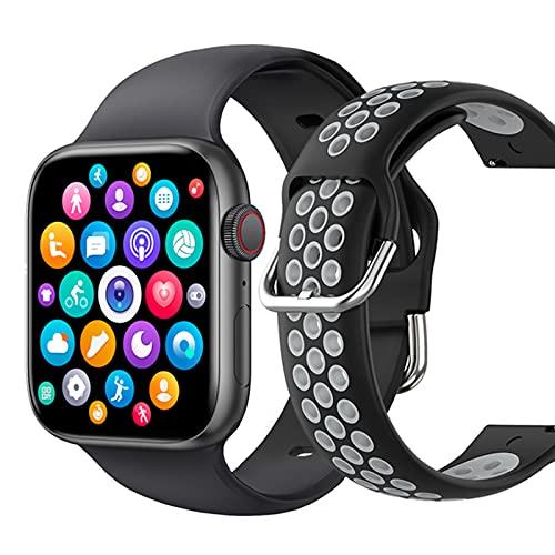 VBF SmartWatch 1.72 Pulgadas T800 Llamadas Bluetooth, Bricolaje de la Aptitud de DIY Ail, Reloj Inteligente Hombres y Mujeres PK IWO W46 W56 Series 6 para iOS Android,D