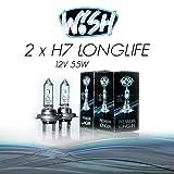 2x Wish® H7 LongLife 12V 55W PX26d Halogen...