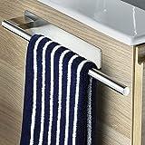 oetams porta asciugamani bagno, portasciugamani da parete adesivo in acciaio inox, senza foratura, 39cm