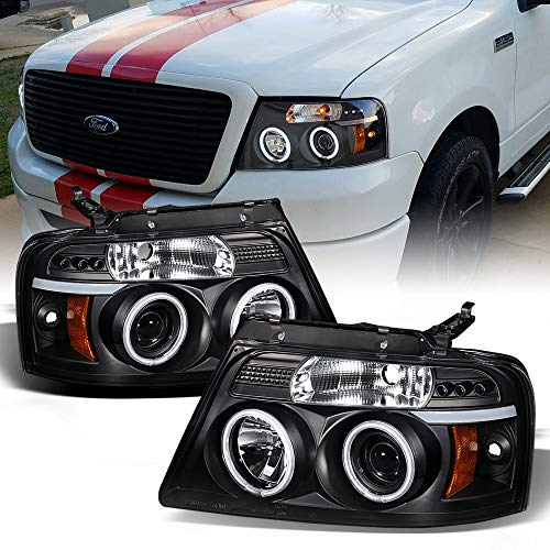 ACANII - For 2004-2008 Ford F150 LED Halo Ring Black Housing Projector...