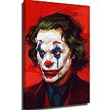 Elliot Dorothy Joker Art Arthur Fleck película cómic, arte divertido pintura al óleo, arte enmarcado, arte moderno, arte decorativo, estirada y lista para colgar, lona, Enmarcado, 12x16in.Small