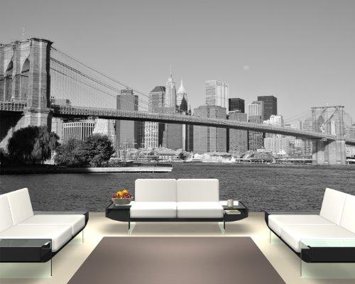Bilderdepot24 Papier Peint intissé - Pont New York - 155x100 cm - pâte Inclus - Vente directe Fabricant!