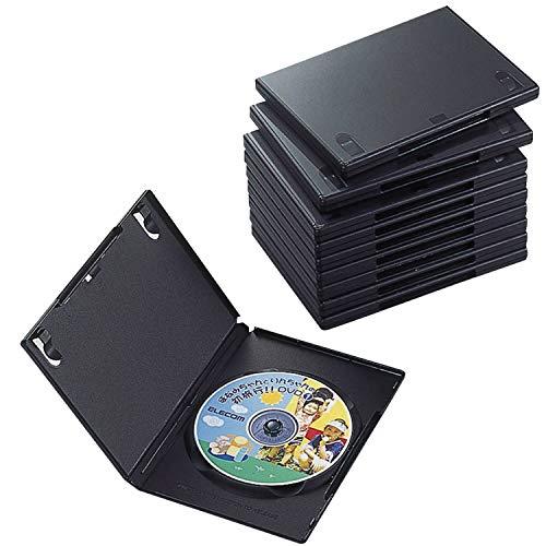 エレコム トールケース DVD BD 対応 標準サイズ 1枚収納 10個セット CCD-DVD03BK