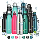 Umi. by Amazon - Botella Agua Acero Inoxidable, Termo 500ml, Sin BPA, Islamiento de Vacío de Doble Pared, Botellas Frío/Caliente, Reutilizable para Niños, Colegio, Sport, Gimnasio, Bicicleta