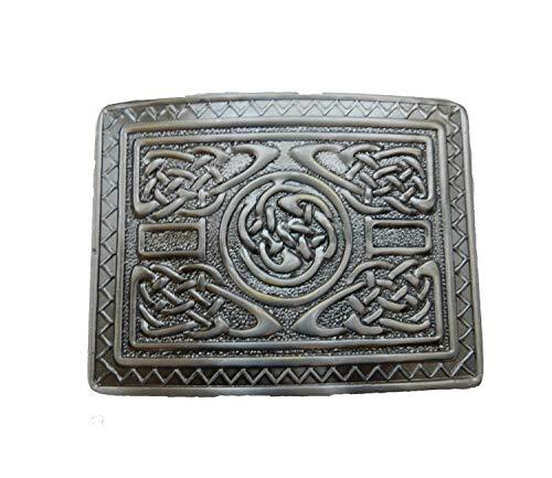 Scottish Kilt belt buckle #12 Antiqued Black Finish (Back Antique)