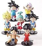 LWH-MOU Dragon Ball Z Son Goku Goten Trunks Upa Bulla Youth Ver PVC Dragonball Action Figures Modello da Collezione Giocattoli 7 pz/Set