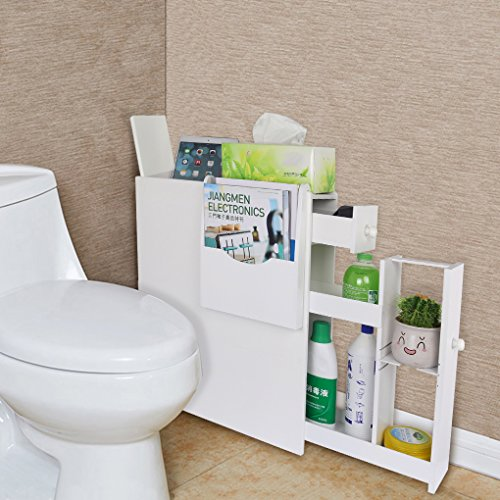 Wrea Bathroom Organizer with Magazine Rack