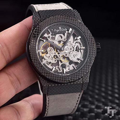 Männer automatische mechanische Uhr Edelstahl 904l braun schwarz blau Leder Sapphire Limited Sport Skeleton grau schwarz