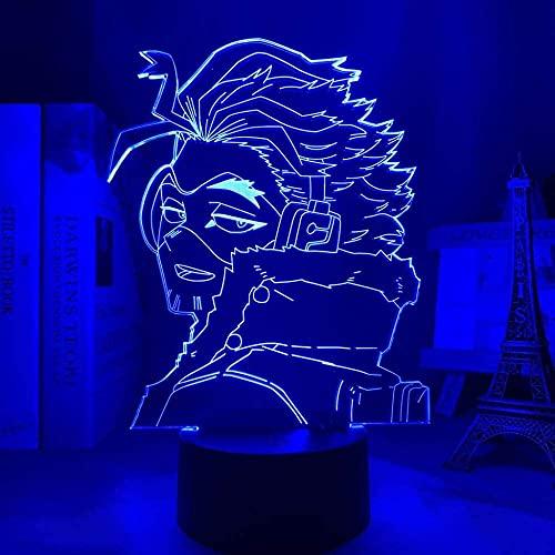 Lámpara de ilusión 3D Luz de noche LED Anime My Hero Academia Keigo Takami 7 colores Lámpara de mesa Niños Regalo de cumpleaños para niños Habitación Dormitorio Iluminación Decoración