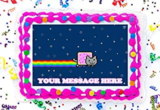 Nyan Cat Cake Topper Edible Image Personalized Cupcakes Frosting Sugar Sheet (8