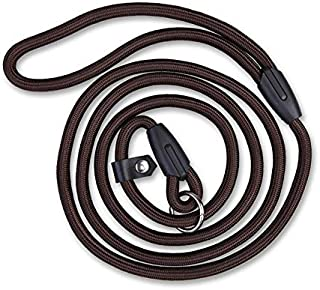 CZWYF Dog Leash Pet Rope Leash Thick Durable Nylon Rope Soft Handle and Light Weight Training Leash Pet Dog Leash Dog Strap Rope (Color : Brown, Size : L)