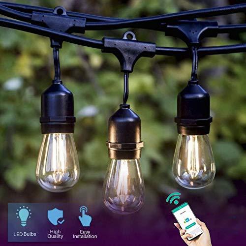 Lombex Smart WIFI Kit d'éclairage LED Compatible avec Alexa RemoteVoice Control 48FT