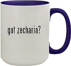 got zecharia? - 15oz Ceramic Inner & Handle Colored Coffee Mug, Deep Purple