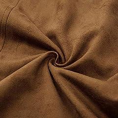 SCARLET DARKNESS Men Medieval Lace up Waistcoat Renaissance Costume Vest Tops Light Brown Size XL #5