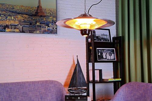 GREADEN – Infrarot-Hängeheizstrahler SATURN – Mit Fernbedienung und LED-Lampe – Terrassenheizstrahler – GR2RT3 - 7