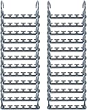 Wonder Hanger Max New & Improved, Pack of 24 – Triples Closet Space for Easy, Effortless, Wrinkle-Free Clothes, Comes Fully Assembled, Grey