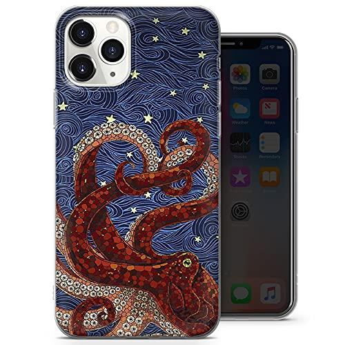 Custodia per cellulare Octopus Astratto cover per iPhone 12/12 Pro - Design 5