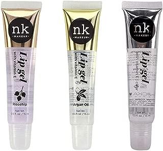 3 PACK!! NICKA K NEW YORK Clear Lip Gel with Vitamin E (Argan Oil & Rosehip & Clear)