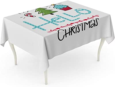 CHRISTMAS TABLECLOTH WIPEABLE TABLE CLOTH COVER WIPE CLEAN OILCLOTH  HY