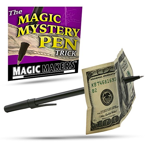Magic Makers Mystery Trick Pen - Pen Through Dollar Magic Trick Effect Prop Toy