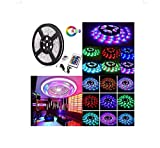 Water-resistace IP65 5M/16.4 Ft SMD 3528 300leds Multicolor Changing Kit LED Cuttable Light Strips with Flexible Strip Light+24Keys IR Remote Control+Power Supply