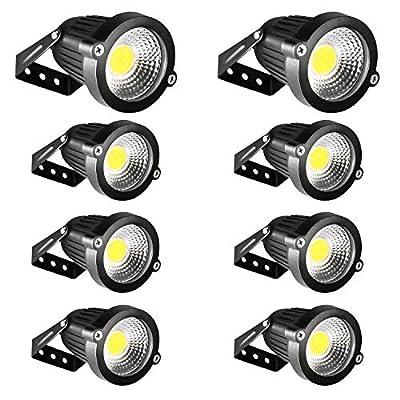 Landscape Lighting INNERWILL 5W LED Landscape Lights 12V 24V Outdoor Spotlights, 5500K Daylight White