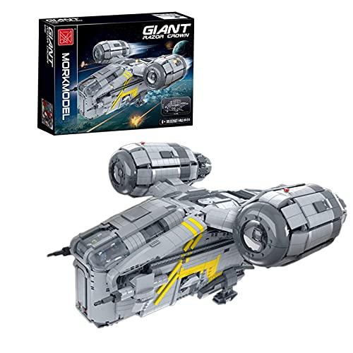 WANZPITS The Razor Crest Modelo 032002 Kit De Construcción; Gigante Super Starship Moc Terminal Set Technic Compatible con Lego Technical Star Wars Razor Top,(4453 Pieces)
