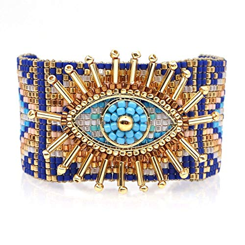 THj Bracelet For Women Turkish Lucky Evil Eye Bracelets Jewelry Women Handmade Loom Beads Adjustable