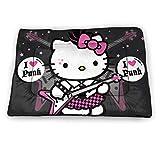 KANKANHAHA Alfombrilla de cama para perro, diseño de Hello Kitty, suave, lavable, antideslizante, para perros y gatos de 45,7 x 30,4 cm