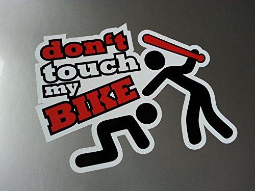 folien-zentrum Dont Touch My Bike Shocker Hand Auto Aufkleber JDM Tuning OEM Dub Decal Stickerbomb Bombing Fun