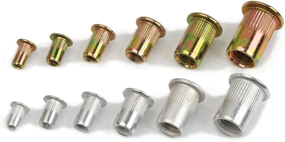 Loriver 300pcs Mixed Zinc Aluminum Nuts Threaded Weekly update Rivet OFFicial site Nutserts