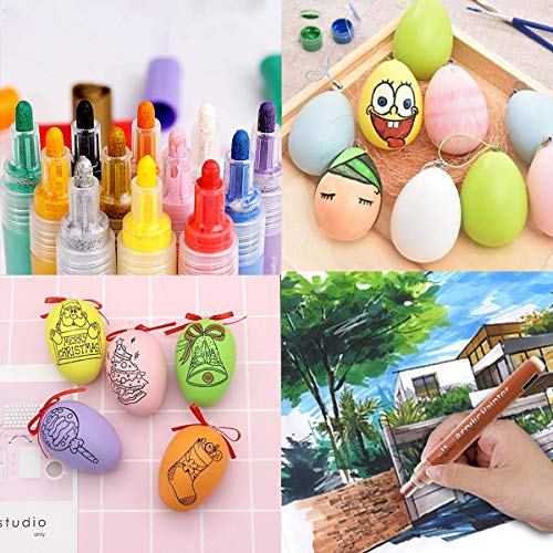 Paint Pens for Rock Painting Stone Ceramic Glass Wood Fabric Canvas Mugs Card 2 mm Fast Drying DIY Craft Making Supplies Scrapbooking Craft Acrylic Paint Marker Pens Set of 12 Colors Photo #4