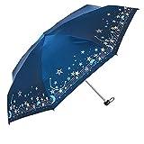 Paraguas Paraguas Plegable Paraguas Brillo Partituras de Estrellas de música Cielo Estrellado Súper Ligero 7 Huesos Corte de UV Lluvia y Lluvia Uso Combinado Paraguas (Color : Red, Size : Free)