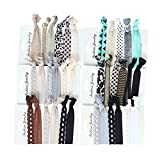Beauty Wig World 6 Pack Elastic Ribbon Hair Ties Set Leopard Lace Dot No Crease Ponytail Holder Cute Hair Tie Hair Elastic Supplies Colorful Bracelet for Girl and Women Wig Accessories