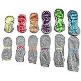 Okwin Erwachsene Kinder Socken Low Cut Anti-Skid Rutschfeste Yoga Pilates Anti Rutsch Sportsocken