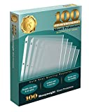 100 Clear Heavyweight Poly Sheet Protectors by Gold Seal, 8.5' x 11'