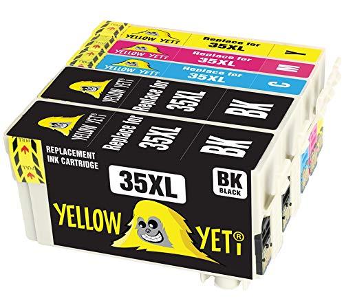 Yellow Yeti Sostituzione per Epson 35 35XL Cartucce d'Inchiostro compatibili con Epson WorkForce Pro WF-4720DWF WF-4740DTWF WF-4730DTWF WF-4725DWF (2 Nero + 1 Ciano + 1 Magenta + 1 Giallo)