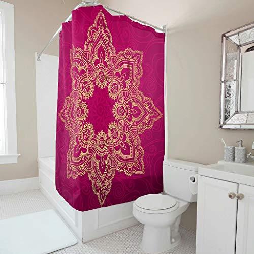 cortinas baño poliester mandalas