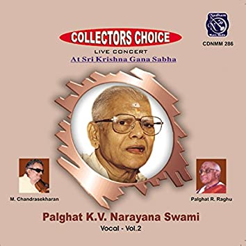Palghat K. V. Narayana Swami, Vol. 2 (Live)