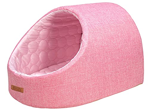 PetStyle ドーム ひんやり ペット ベッド 夏用 冷感 犬 猫 おしゃれ かわいい Mサイズ (ピンク)