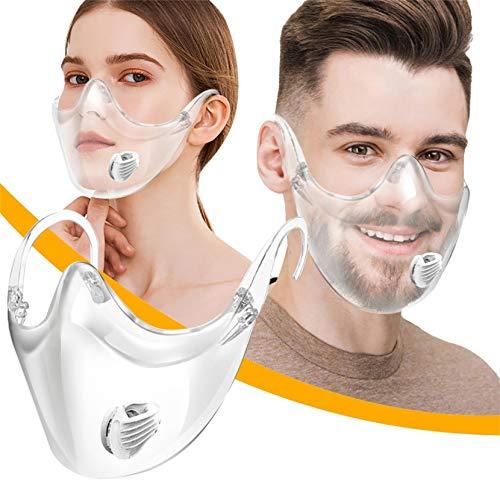 AmyGline Gesichts_Schutz_Visier Plexiglas Transparente Brillenstil Multifunktionvisier Face Halstuch Mund-Nase-Bedecken für Herren Damen