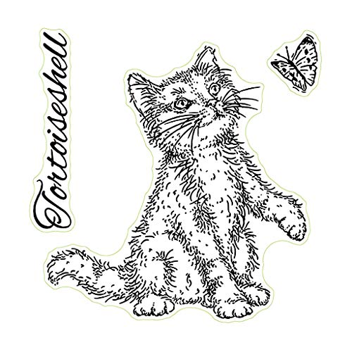 Lyguy Clear Stempel, Cat Silicone Clear Seal Stamps DIY Scrapbooking Embossing fotoalbum