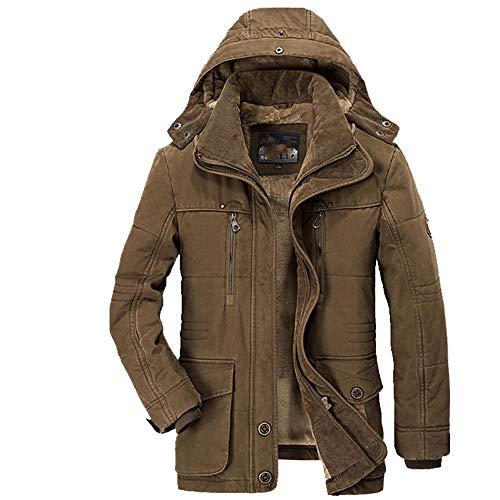 Chaqueta acolchada casual con múltiples bolsillos para hombre