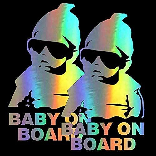HungMieh Baby on Board Stickers for Car,Baby Safety Car Signs, Baby on Board Decals for Cars, Funny...